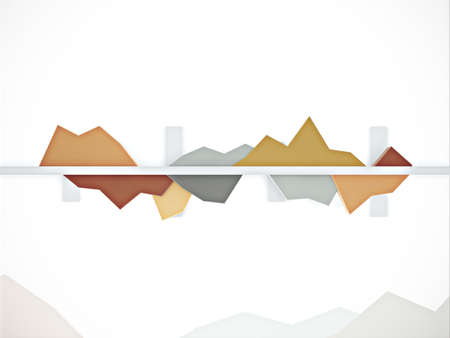 3d chart with ups and downs for business statistics and reports Stock Photo - 16676845