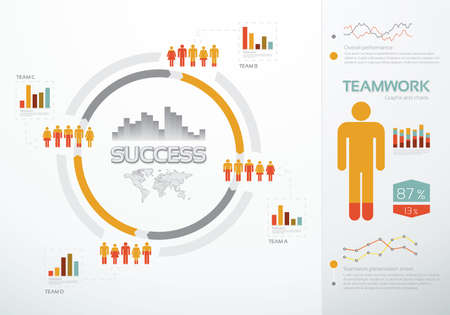 Teamwork graphs and charts for business success