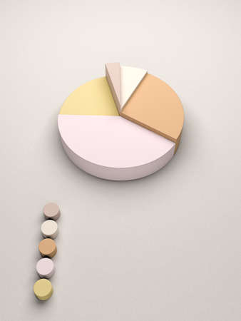 Cake statistics for business reports and statistics Stock Photo - 20861297