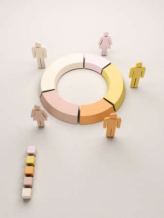 Teamwork statistics and charts for business reports and presentations Stock Photo - 20861304