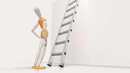 looking ahead: Success lies ahead  Person looking up a ladder