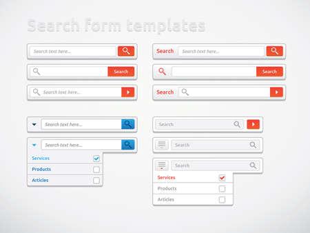 Search form templates, scribbles and designs Archivio Fotografico