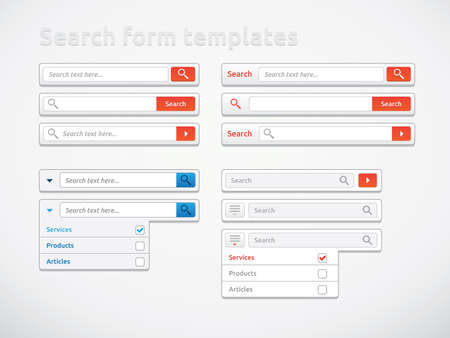 Search form templates, scribbles and designs Stock Photo