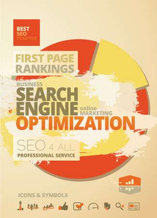 Search Engine Optimization - SEO - Rankings Concept Design