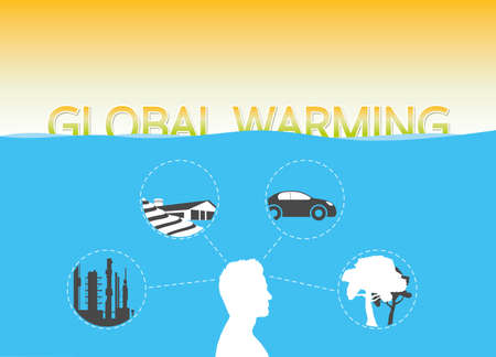 Rising sea levels due to man made global warming Stock Photo