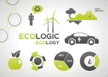 Ecology elements and icons for infographics Stock Photo