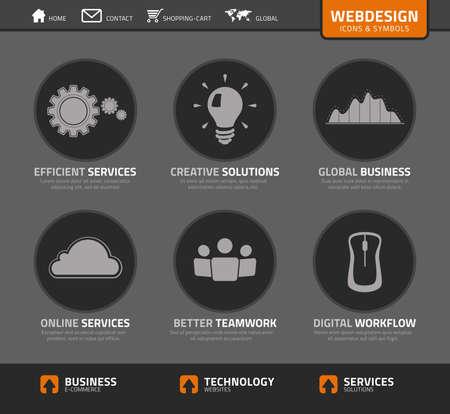 set webdesign icons and symbols photo