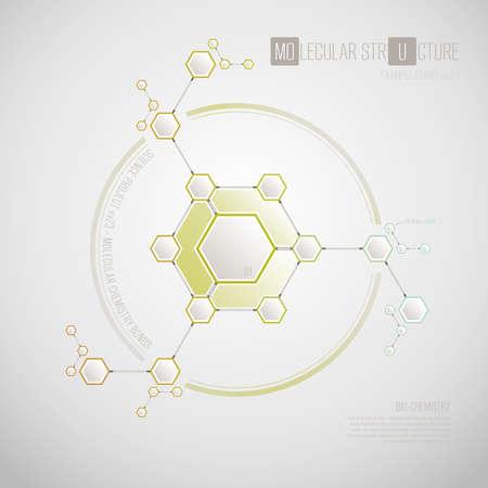 bond: Vector biochemistry molecular structure concept