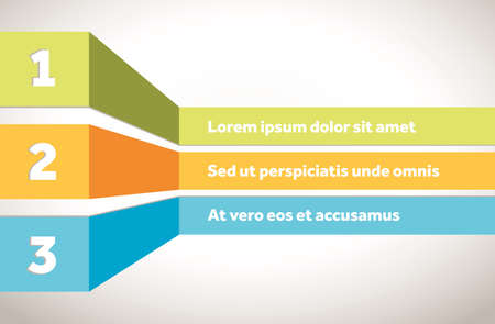 Colorful vector template for indices or table of contents Archivio Fotografico