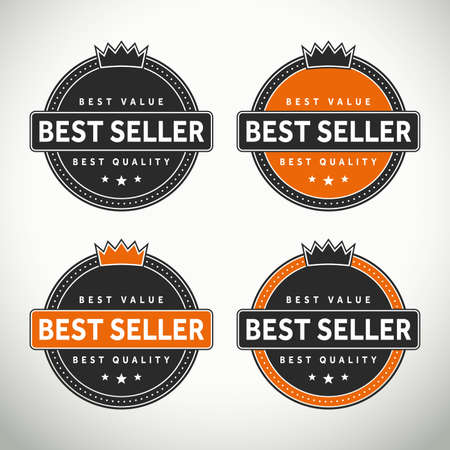 top seller: High quality best seller selas and badges for websites and print labels Stock Photo