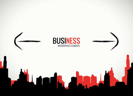 Business decision and expansion template for infographics