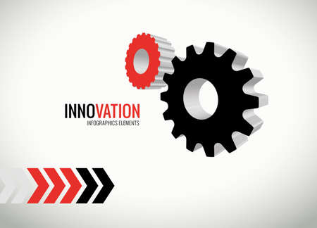 modernization: Innovation graphics for infographics and presentations Stock Photo