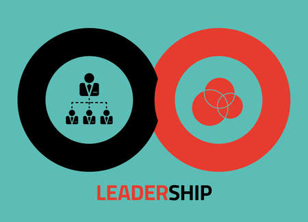 Leadership vector icon design for infographics, presentations or reports Stock Photo