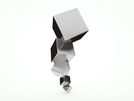 architectural design: Abstract architectural 3D design with reflective cubes Stock Photo