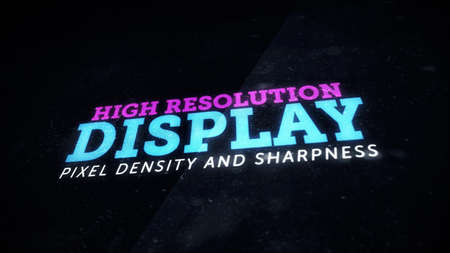 sharpness: High resolution display with great pixel density and sharpness Stock Photo