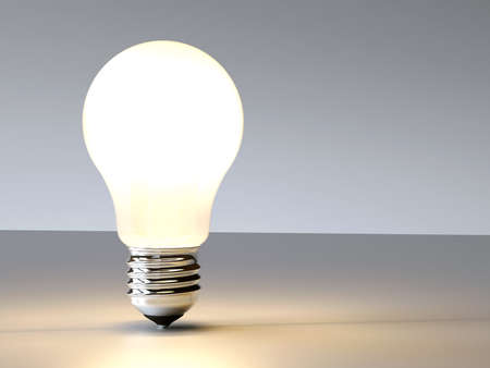 Incandescence 3D lightbulb design background idea