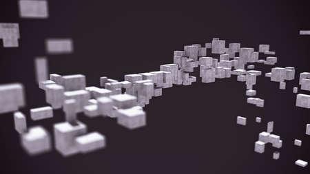 Abstract 3D cubes spiral background design