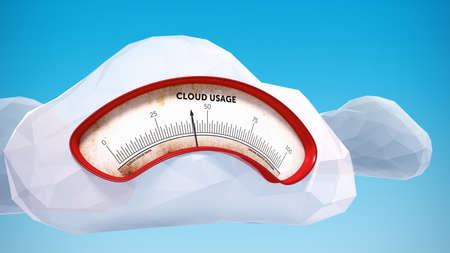 usage: Abstract cloud computing usage data meter