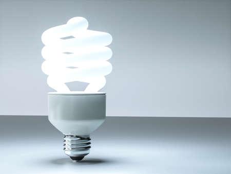 bulb light: Modern 3D cfl lightbulb design background