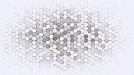 3d hexagonal background design with white borders Stock Photo