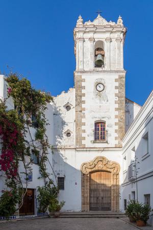 tarifa: Church within the old city of Tarifa, Spain