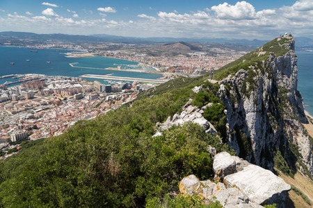 A view to Spain from the Gibraltar visitor center