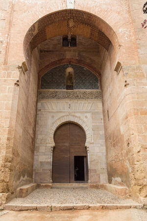 The Justice Gate at the Alhambra, a palace and fortress complex located in Granada, Spain that was originally constructed in 889.