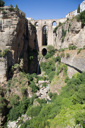 central chamber: Completed in 1792, the New Bridge in Grenada, Spain, contains a chamber beneath the central arch that was used for a variety of purposes, including as a prison. It is reported that prisoners during the Spanish Civil War were thrown to the rocks at the bot