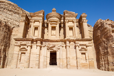 Monastery at Petra, Jordan  Accessed by ascending 850 steps, the Monastery was originally dedicated to the Nabataean god Obodas in the 1st century BCE