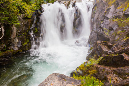 Waterfall on the Paradise River, Mt  Rainier National Park, Washington