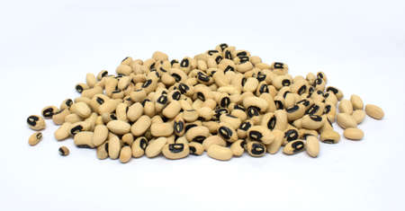 black-eyed peas on white background Stockfoto