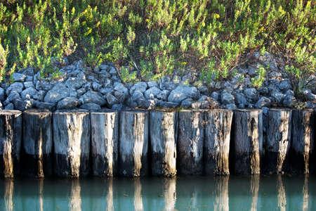 stilts: stilts in the lagoon of venice