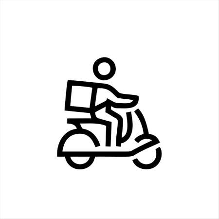 scooter icon isolated on white background from transportation collection. scooter icon trendy and modern scooter symbol for logo, web, app, UI.
