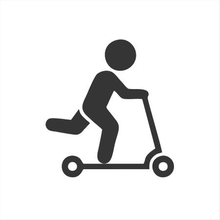 kick scooter icon isolated on white background from public transportation collection. kick scooter icon trendy and modern kick scooter symbol for logo, web, app, UI.