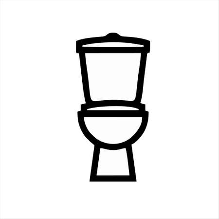 toilet icon isolated on white background from interior design collection. toilet icon trendy and modern toilet symbol for logo, web, app, UI. toilet icon simple sign.