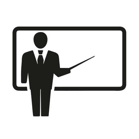 teacher icon isolated on white background from business training collection. teacher icon trendy and modern teacher symbol for logo, web, app, UI. teacher icon simple sign. Logo
