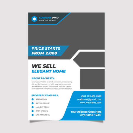Real Estate Flyer Design and Vector Template