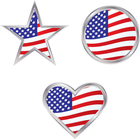 Three American Flag Icons - perfect for election season or any other patriotic occasion or holiday Stock Vector - 3253046