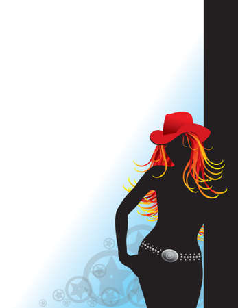 Silhouette of a Cowgirl