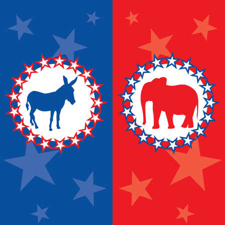 アメリカの選挙のベクトル図