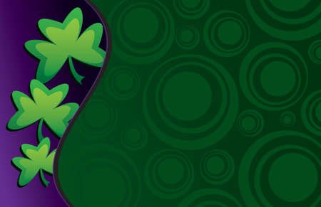 patrick: A whimsical St. Patricks day background - perfect for a card or invitation!