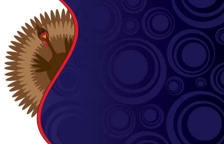 Funky Thanksgiving Hintergrund - perfekt für eine Karte oder eine Einladung Standard-Bild - 3267231