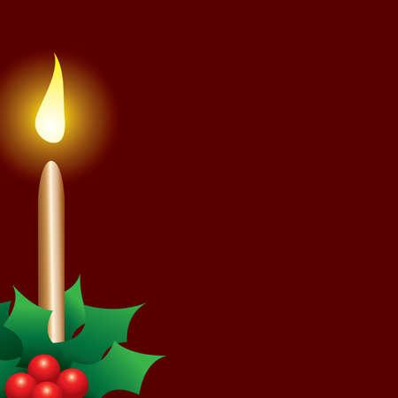 Festive Christmas Candle Ilustração