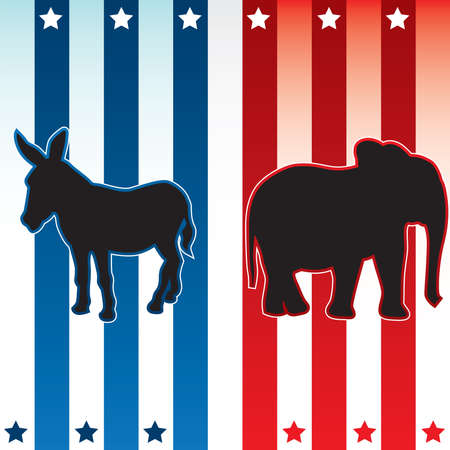 American election vector illustration