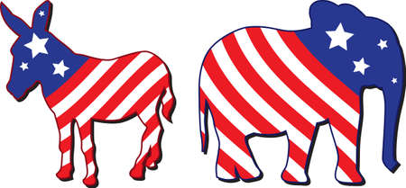 republican: Am�rica elecci�n ilustraci�n vectorial