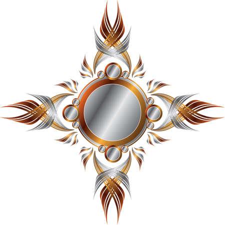 Symmetrische Gold en Silver Frame