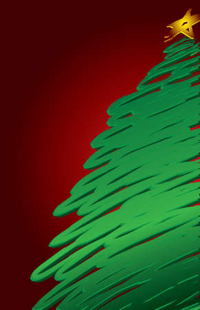 Modern Christmas Tree Background Иллюстрация