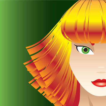 Sassy Strawberry Blond Woman Vector