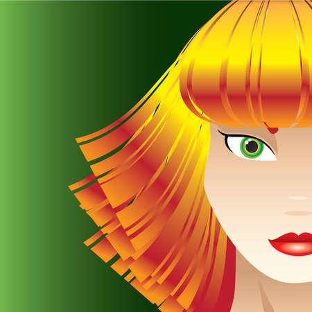 Sassy Strawberry Blond Woman Vector