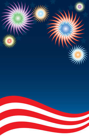 Fireworks Background Stock Vector - 3267276